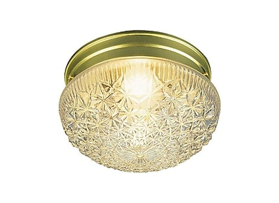 Aurora Lighting Incandescent Flush Mount, Polished Brass (STL-VME270165)