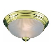 Aurora Lighting Incandescent Flush Mount, Polished Brass (STL-VME277225)