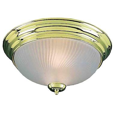 Aurora Lighting Incandescent Flush Mount, Polished Brass (STL-VME277201)