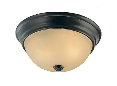 Aurora Lighting Incandescent Flush Mount, Antique Bronze (STL-VME975800)