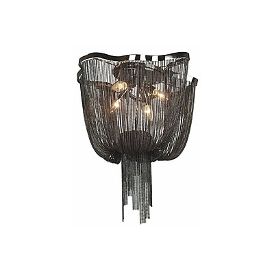 Aurora Lighting Incandescent Flush Mount, Chrome (HF1403-BLK)