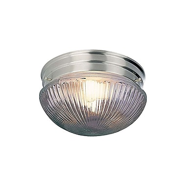 Aurora Lighting Incandescent Flush Mount, Brushed Nickel (STL-VME070567)