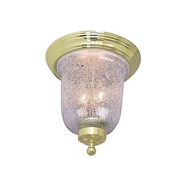 Aurora Lighting Incandescent Flush Mount, Polished Brass (STL-VME271704)
