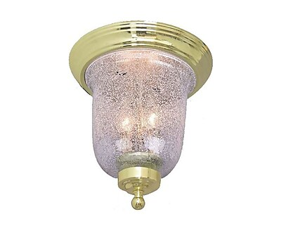 Aurora Lighting Incandescent Flush Mount, Polished Brass (STL-VME271704)