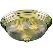 Aurora Lighting Incandescent Flush Mount, Polished Brass (STL-VME277126)