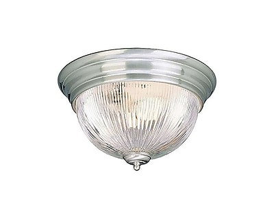 Aurora Lighting Incandescent Flush Mount, Brushed Nickel (STL-VME072127)