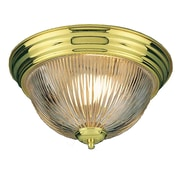 Aurora Lighting Incandescent Flush Mount, Polished Brass (STL-VME272114)