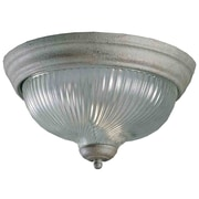 Aurora Lighting Incandescent Flush Mount, Platinum Rust (STL-VME577141)