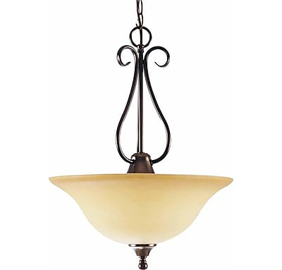 Aurora Lighting Incandescent Pendant, Antique Bronze (STL-VME933633)