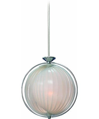 Aurora Lighting Incandescent Pendant, Chrome (STL-VME319437)