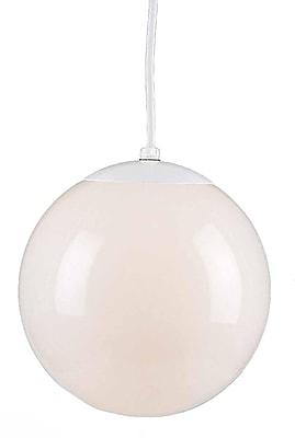 Aurora Lighting Incandescent Pendant, White (STL-VME618417)