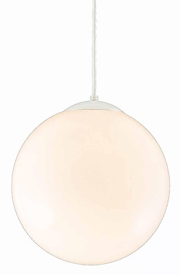 Aurora Lighting Incandescent Pendant, White (STL-VME618455)