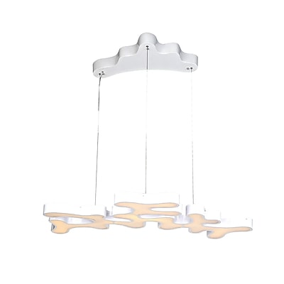 Aurora Lighting LED Pendant, White (HF2000-WHT)