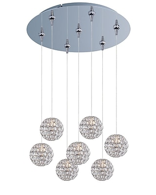 Aurora Lighting Xenon Pendant, Brushed Aluminum (STL-ETE050674)