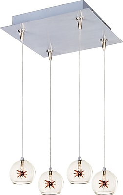 Aurora Lighting Xenon Pendant, Satin Nickel (STL-ETE057284)