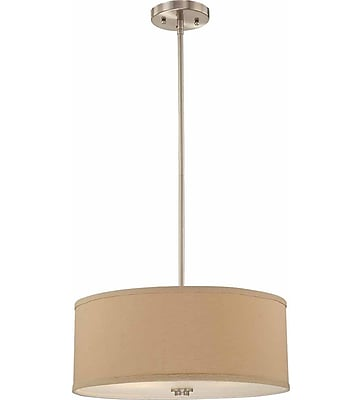 Aurora Lighting Incandescent Pendant, Brushed Nickel (STL-VME343623)
