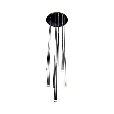 Aurora Lighting Halogen Pendant, Chrome (HF2107-CH)