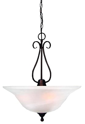 Aurora Lighting Compact Fluorescent Pendant, Antique Bronze (STL-VME763667)
