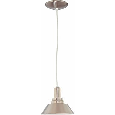 Aurora Lighting Incandescent Pendant, Brushed Nickel (STL-VME318843)