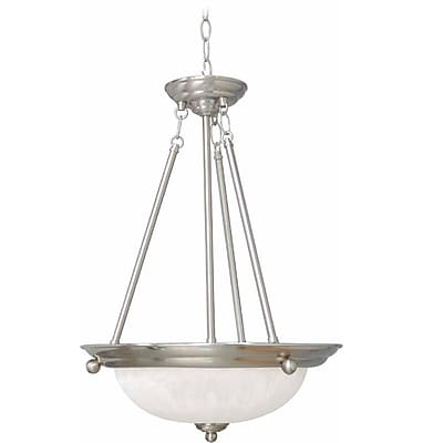 Aurora Lighting Incandescent Pendant, Brushed Nickel (STL-VME022832)
