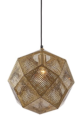 Aurora Lighting Incandescent Pendant, Gold (HF8001-GLD)
