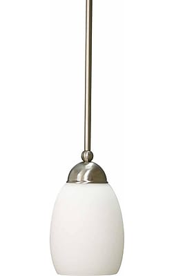 Aurora Lighting Incandescent Pendant, Brushed Nickel (STL-VME323212)