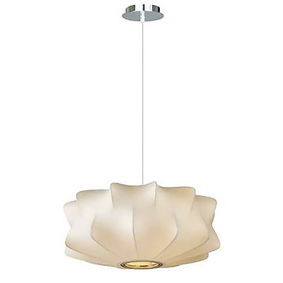 Aurora Lighting Incandescent Pendant, White (HF2112-WHT)