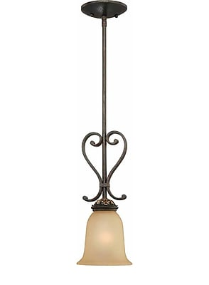 Aurora Lighting Incandescent Pendant, Vintage Bronze And Antique Gold (STL-VME222010)