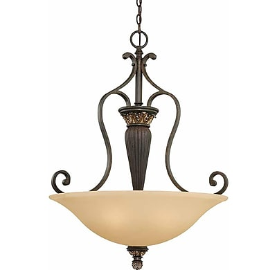 Aurora Lighting Incandescent Pendant, Vintage Bronze And Antique Gold (STL-VME221532)