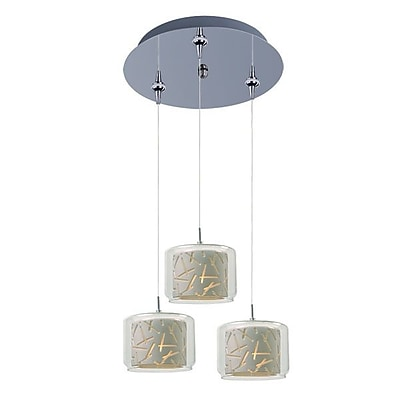 Aurora Lighting Xenon Pendant, Polished Chrome (STL-ETE056546)