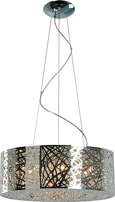 Aurora Lighting Incandescent Pendant, Satin Nickel (STL-ETE038955)