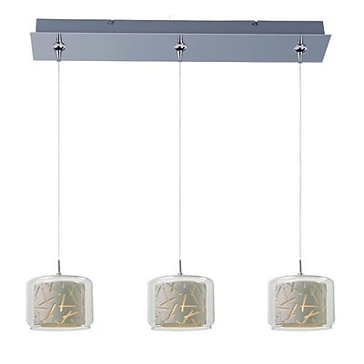 Aurora Lighting Xenon Pendant, Satin Nickel (STL-ETE058120)