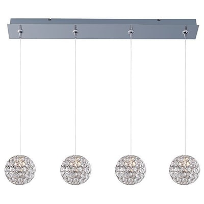 Aurora Lighting Xenon Pendant, Nickel (STL-ETE054078)