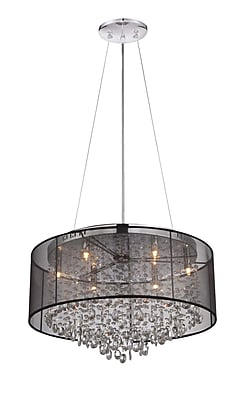 Aurora Lighting Halogen Pendant, Black (HF1505-BLK)