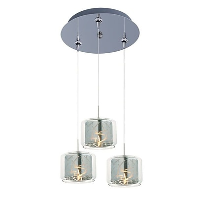 Aurora Lighting Xenon Pendant, Polished Chrome (STL-ETE056638)