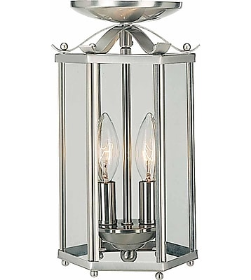 Aurora Lighting Incandescent Semi-Flush, Brushed Nickel (STL-VME350829)