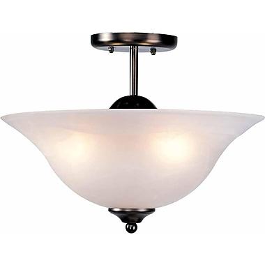 Aurora Lighting Incandescent Semi-Flush, Antique Bronze (STL-VME924433)