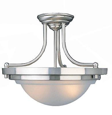 Aurora Lighting Incandescent Semi-Flush, Brushed Nickel (STL-VME321720)