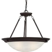 Aurora Lighting Incandescent Semi-Flush, Antique Bronze (STL-VME969724)