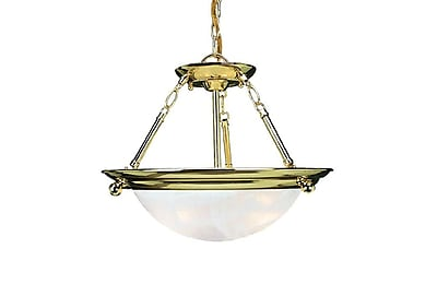 Aurora Lighting Incandescent Semi-Flush, Polished Brass (STL-VME269732)