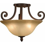 Aurora Lighting Incandescent Semi-Flush, Italian Dusk (STL-VME358238)