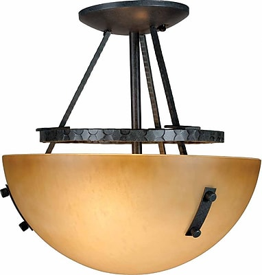 Aurora Lighting Incandescent Semi-Flush, Frontier Iron (STL-VME553428)
