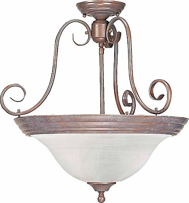 Aurora Lighting Incandescent Semi-Flush, Prairie Rock (STL-VME222300)