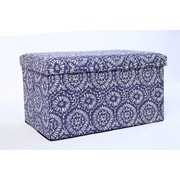 Aurora Lighting Fairton Fabric Storage Bench Blue 1 STP-TLC3109147