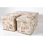 Aurora Lighting Reinbeck Fabric Bench and Storage Ottoman Set Beige 1 STP-TLC3109185