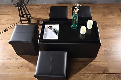 Aurora Lighting Correll Faux Leather Bench and