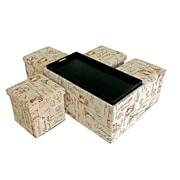 Aurora Lighting Correll Fabric Bench and  Storage Ottoman Set Beige 1 STP-TLC3109277