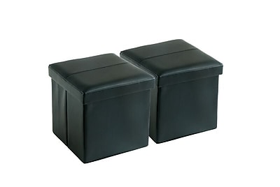 Aurora Lighting Greendale Faux Leather Storage Ottoman Black 1 STP-TLC3109109