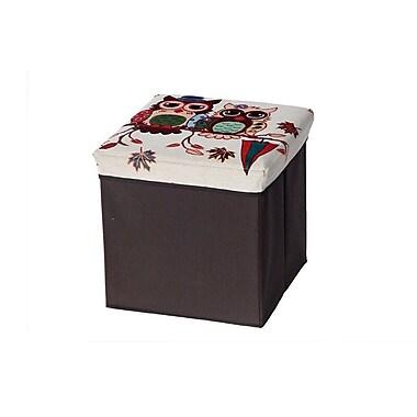 Aurora Lighting Seco Fabric Storage Ottoman Brown 1 STP-TLC3109307