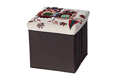 Aurora Lighting Seco Fabric Storage Ottoman Brown 1 STP-TLC3109307
